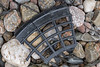 Black plastic piece washed up at Petit Port on Guernsey's south coast on 20th February 2021
