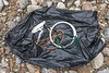Litter washed up on one wave at Petit Port on Guernsey's south coast on the 21st January 2021