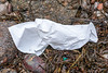 White plastic sheet washed up at Petit Port on Guernsey's south coast on 9th February 2020