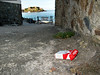 Cigarette packet litter at La Valette