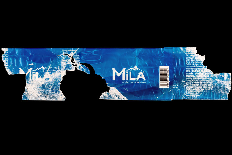 Mila label off a plastic bottle found east of Fort Le Marchant on Guernsey's north coast on the 24th September 2021