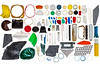Small plastic litter items collected from the sea shore at Petit Port on Guernsey's south coast on 19 January 2018