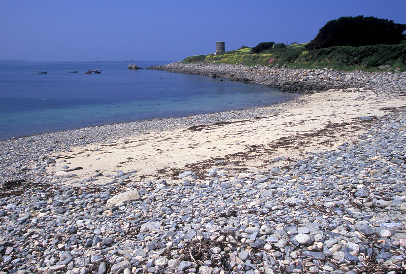 The sea shore at Champ Rouget, Chouet, Guernsey