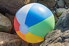 Inflatable beach ball made in China found amongst rocks to the west of Jaonneuse beach on the 2nd September 2021