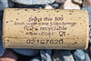 A non-biodegradable cork made from sugarcane ethanol found on the strand line at Pleinmont on 16th July 2021