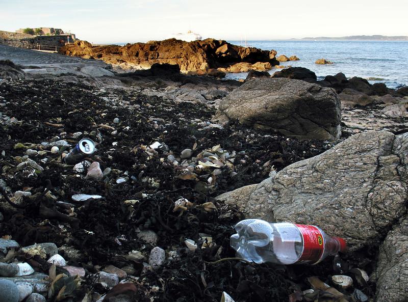 litter on La Valette sea shore on 2 June 2007