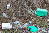 Plastic litter washed up at Champ Rouget, Chouet on Guernsey's north coast on 26th February 2016
