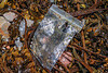 Plastic zip lock bag washed up at Petit Port on Guernsey's south coast on 2nd February 2020