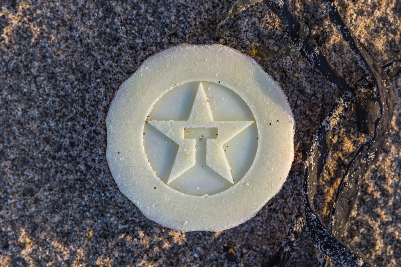 Texaco cap from a container washed up at Les Pecqueries on Guernsey's west coast and collected on 23rd January 2021