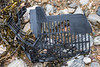 Black plastic crate piece washed up at Petit Port on Guernsey's south coast on the 28th January 2021