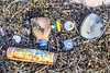 Some of the litter washed up on the seaweed strand line at Petit Port on Guernsey's south coast on 6 March 2019