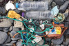 Litter collected from the beach between Beaucette Marina and Fort Doyle on Guernsey's north east coast