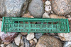Side of plastic crate washed up at Petit Port on Guernsey's south coast on the 30th January 2021