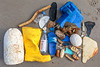 Litter collected from crevices in a cave at the top of the fifth ravine to the west of Petit Port on 20th September 2020