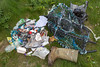 Litter collected from the sea shore at Champ Rouget, Chouet on Guernsey's north west coast  on 28th April 2013