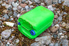 Green jerry can washed up at Petit Port on Guernsey's south coast on 4th July 2020