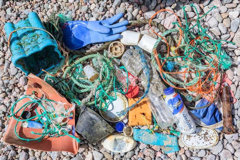 Beach clean litter from Petit Port on Guernsey's south coast collected on 21 September 2018