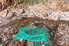 A section of fishing net washed up at Petit Port and was removed on 18th October