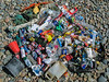 Beach litter collected in Saline Bay on Guernsey's west coast on 22nd July 2008