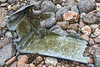 Broken fish box or tote washed up at Petit Port on Guernsey's south coast on the 30th January 2021