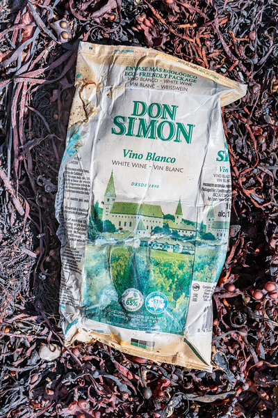 Don Simon white wine carton from Petit Port on Guernsey's south coast