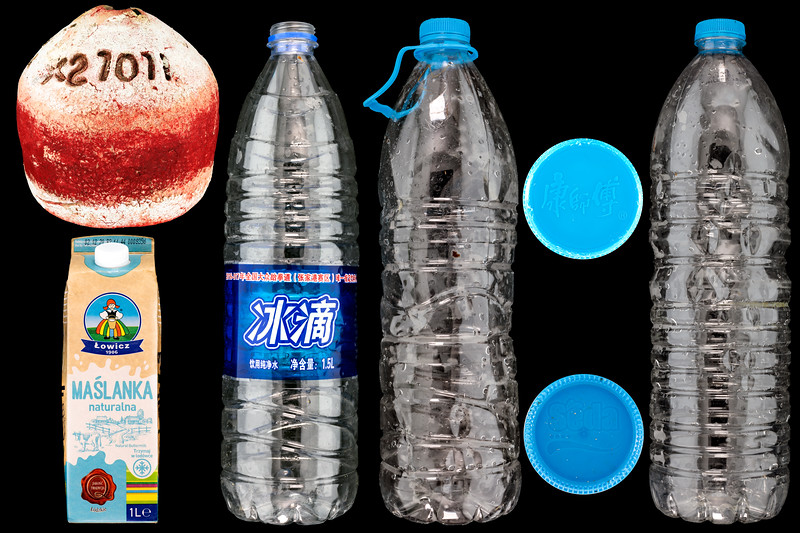 Litter items originating in Florida, USA; Poland; China: and Turkey at Petit Port on 3rd December 2020