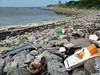 Champ rouget beach litter nr Chouet 050607 232 smg