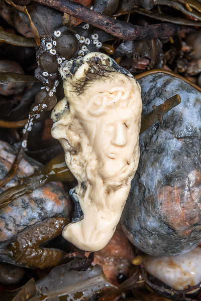 Piece of burnt plastic washed up at Petit Port on Guernsey's south coast on 20th February 2020