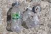 A Volvic Natural Mineral Water plastic bottle collected from the cove to the west of The Fairy Ring on the 16th July 2021