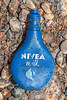 Nivea Milk in old bottle packaging at Petit Port on Guernsey's south coast on 26th February 2020