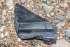 Corner piece of broken fish box washed up at Petit Port on Guernsey's south coast on 28th February 2020