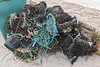 Mangled and broken shellfish pots collected by Clean Earth Trust volunteers from Vazon Bay on the 25th September 2021