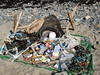 Litter collected from the sea shore at Champ Rouget, Chouet, Guernsey on 17 February 2008
