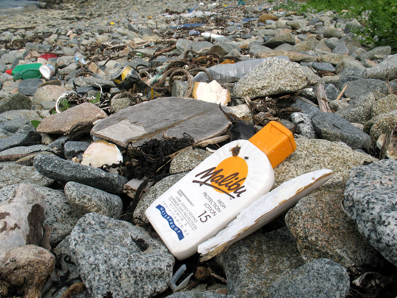 Standline litter at Champ Rouget, Guernsey