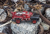Toy car found in the seaweed strand line on Vazon on Guernsey's west coast on the 25th September 2021