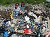 Marine debris and litter collected by G-CAN members on the sea shore at Champ Rouget, Chouet on 8 June 2007