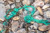 Piece of polypropylene netting washed up at Petit Port on Guernsey's south coast on 13th February 2020