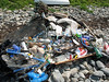 Marine debris and litter collected from the sea shore at Champ Rouget on 8 June 2007