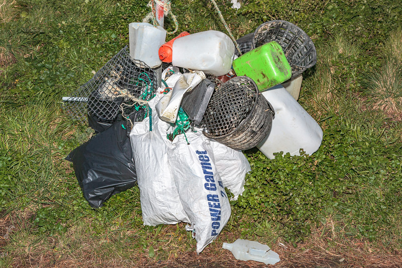 Litter collected by five volunteers at Petit Port on Guernsey's south coast on 9th February 2014