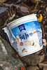 Golden Acre Foods yogurt container washed up at Petit Port on Guernsey's south coast on the 30th January 2021