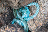 Nylon rope jammed between boulders in a ravine at Petit Port on Guernsey's south coast on 6 September 2019
