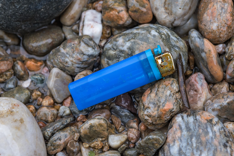 Lighter washed up at Petit Port on Guernsey's south coast on 21st January 2021