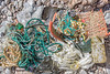 sea shore litter picked up at Petit Port on Guernsey's south coast on the 21st May 2021