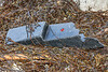 A piece of the seating of an Armor Aviron rigid dinghy washed up at Petit Port on Guernsey south coast 2nd November 2020