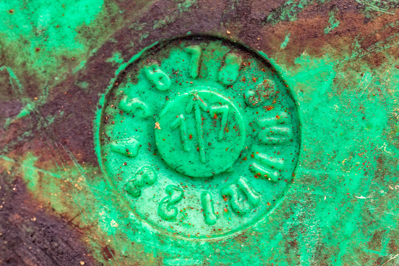 Date stamp for dirty plastic container washed up at Pleinmont on Guernsey's southwest coast on 9th October 2020