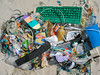 Beach litter collected from Saline Bay on Guernsey's west coast on 26th April 2008