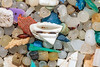 Micro plastic and insect cocoons collected from Petit Port beach on Guernsey's south coast on 19th September 2020