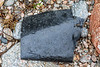 Sheet of black plastic washed up at Petit Port on Guernsey's south coast on 8th July 2020