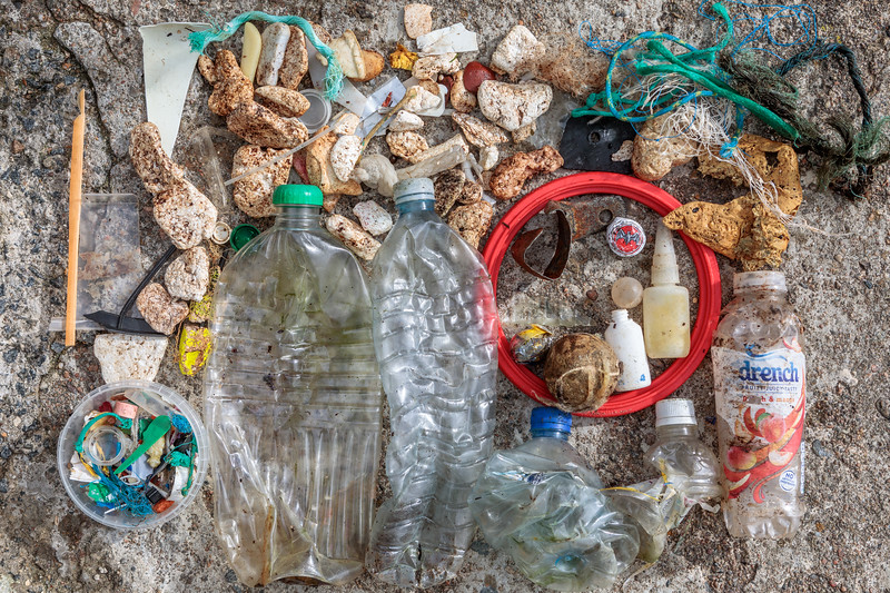 Petit Port beach litter collected on 7th October 2020