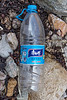 Plastic water bottle from China at Petit Port on Guernsey's south coast on the 21st September 2021